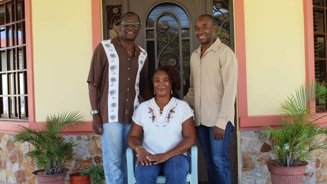 Financial Advisor DeAndre Coke with his parents.