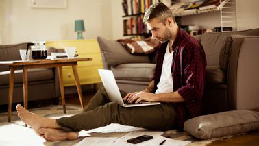 Man researching what to know before taking a loan from life insurance
