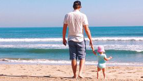What is a 529 plan dad 和 toddler on the beach