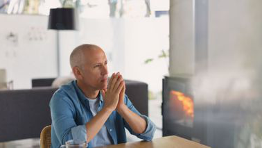 Contemplative man getting divorced just before retirement