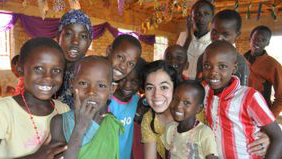 Cindy arocho. on a mission trip in Mozambique, Africa.